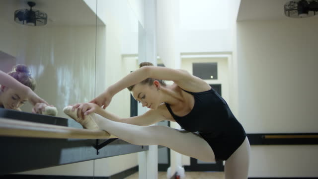 teenage ballerina doing ballet - ballet dancer stock videos and b-roll footage