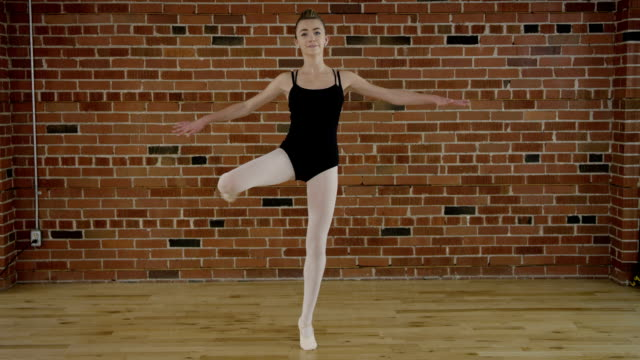 teenage ballerina doing ballet - full length stock videos & royalty-free footage