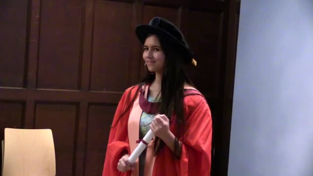 a teenage birdwatcher who campaigns for greater diversity in the conservation and environmental sectors receives an honorary doctorate from the... - diploma stock videos & royalty-free footage