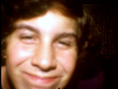 1973 cu teenage boy looking at camera / bronx, new york - teenage boys stock videos & royalty-free footage