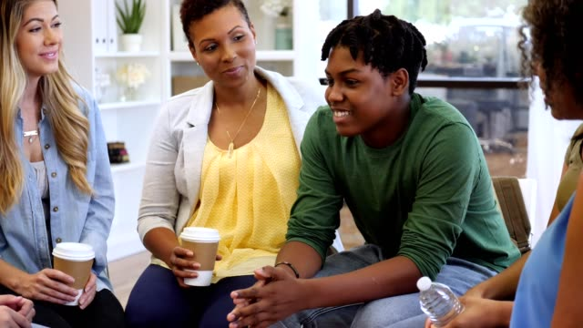 teenage boy participates in group therapy session - guidance stock videos & royalty-free footage