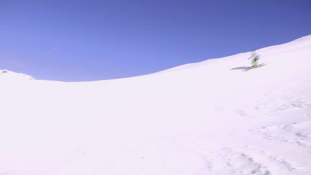 WS, PAN, Teenage boy (16-17) skiing, Bardonecchia, Piedmont, Italy