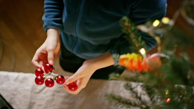teenage boy undressing christmas tree - santa hat stock videos and b-roll footage