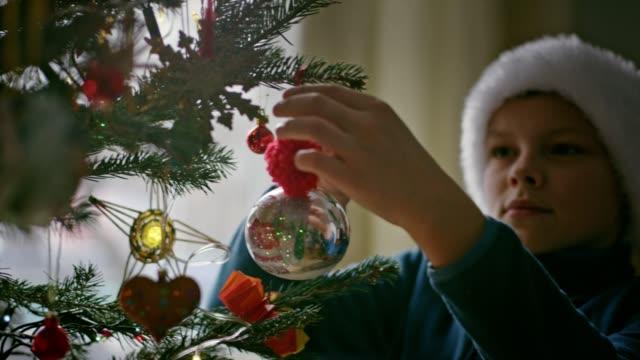 teenager zieht weihnachtsbaum aus - hiding stock-videos und b-roll-filmmaterial