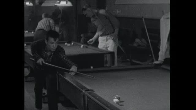 teenage boys playing pool - 1961 stock videos & royalty-free footage