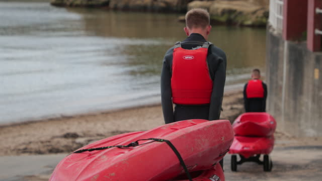 Teenage Boys Ready for Kayaking