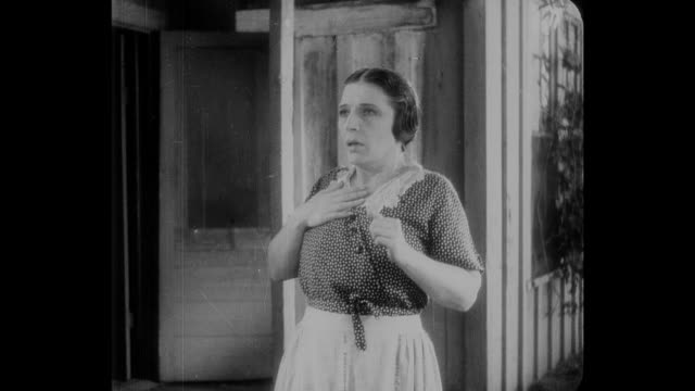 1932 A teenage boy's trick startles his mother