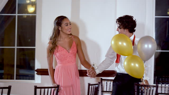 teenage couple after prom, leaving the party - 16 17 years stock videos & royalty-free footage