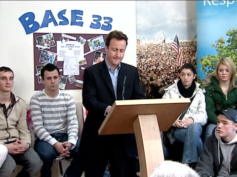 Cameron response ENGLAND Oxfordshire Witney INT David Cameron MP speech SOT Sometimes a piece of research is published which goes straight to the...