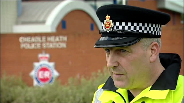 teenage girl dies following suspected drugs overdose cheadle heath chief inspector mark hussey interview sot - drug abuse stock videos & royalty-free footage