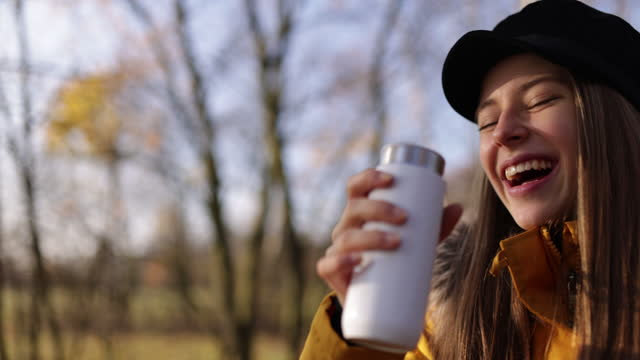 teenage girl drinking from reusable water bottle. - reusable stock videos & royalty-free footage