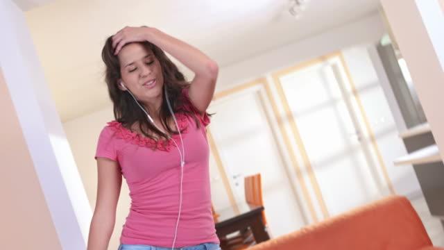HD: Teenage Girl Having Fun Dancing