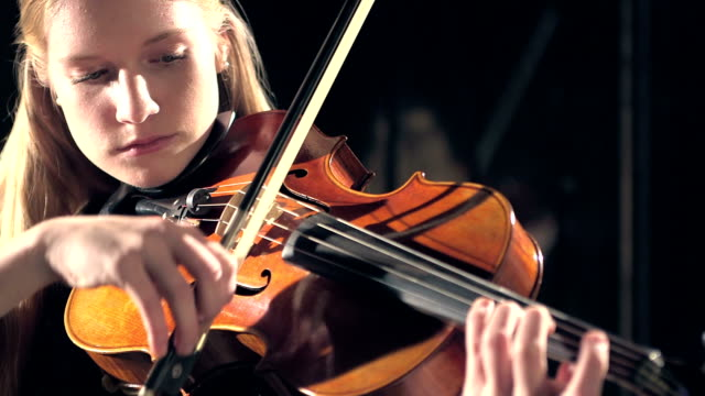 teenage girl playing violin - classical stock videos & royalty-free footage
