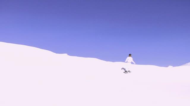 ws, pan, teenage girl (14-15) snowboarding, bardonecchia, piedmont, italy - one teenage girl only stock videos & royalty-free footage