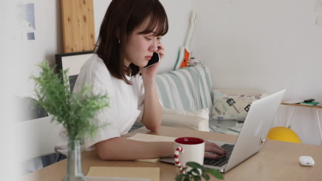 teenage girl using social media - only japanese stock videos & royalty-free footage