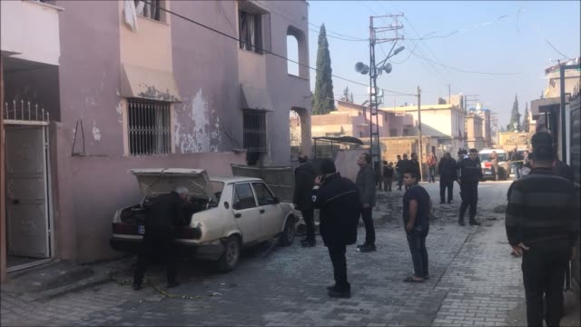 a teenage girl was killed and another civilian injured near turkey's border on january 31 2018 by attacks from syrianbased pyd/pkk terrorists in... - snuff stock-videos und b-roll-filmmaterial