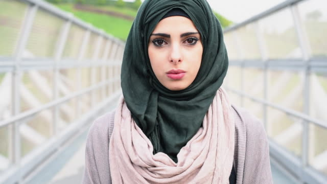 Teenage girl wearing hijab