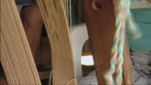ms zi teenage girl weaving at loom / colombia - one teenage girl only stock videos & royalty-free footage
