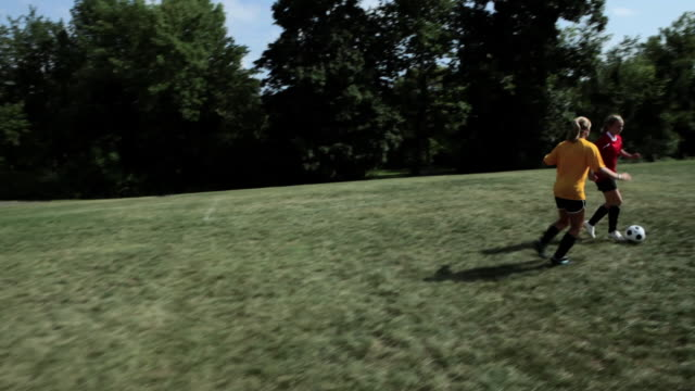 teenage girls playing soccer - chatham new york state stock videos & royalty-free footage