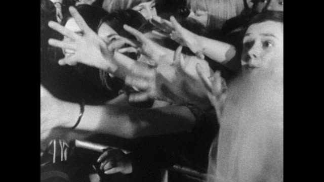 b&w teenage girls screaming at concert; 1971 - fan enthusiast stock videos & royalty-free footage