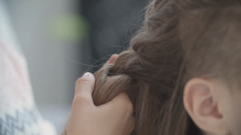 4k: teenage girls sleepover beauty treatment. - braided hair stock videos & royalty-free footage