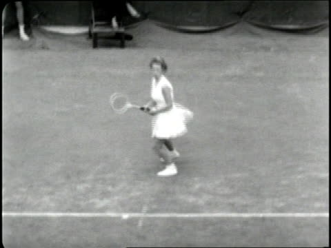 teenage tennis player maureen connolly wins the 1952 u.s. open. - 1952 stock videos & royalty-free footage