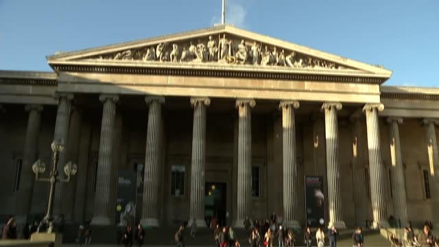 teenager found guilty of plotting to carry out terror attack at british museum with her mother and older sister; r170118008 / bloomsbury: flag on top... - british museum stock videos & royalty-free footage