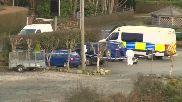 Teenager found shot dead in North Wales pub car park Teenager found shot dead in North Wales pub car park WALES Gwynedd EXT Long shots of police...