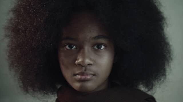 teenager portrait - big hair stock videos & royalty-free footage
