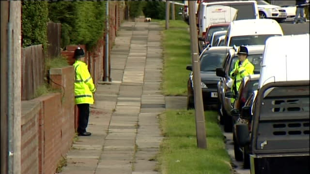 teenager stabbed to death in sheffield in gang fight england yorkshire sheffield parson cross ext various of police officers and police cars at... - sheffield stock videos and b-roll footage