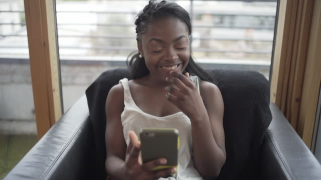 a teenager using social media - dimple stock videos and b-roll footage