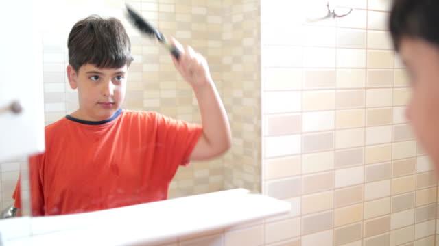 vidéos et rushes de routine du matin-adolescent - soin du corps