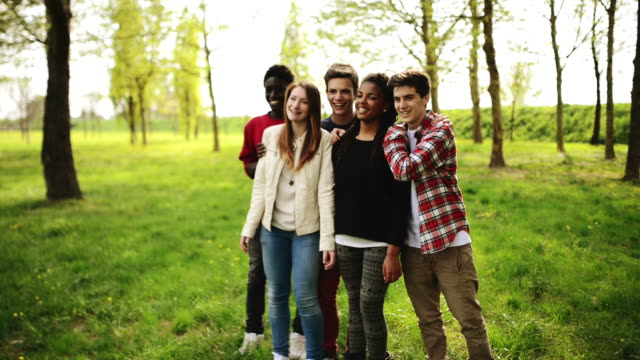 teenagers at the campus having fun - small group of people stock videos & royalty-free footage