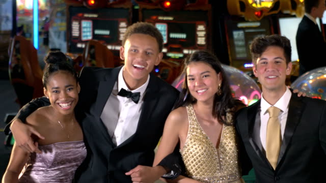 teenagers having fun at after prom party - after party stock videos & royalty-free footage