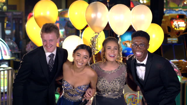 teenagers having fun at after prom party - high school prom stock videos & royalty-free footage