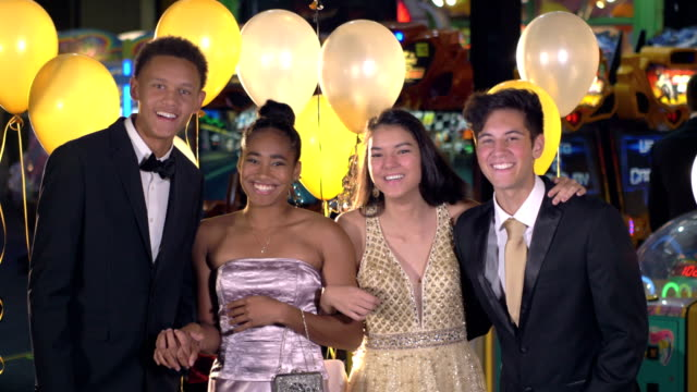 teenagers having fun at after prom party - tuxedo stock videos & royalty-free footage