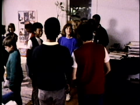1986 MONTAGE Teenagers having party, girl refusing drinking alcohol, USA, AUDIO