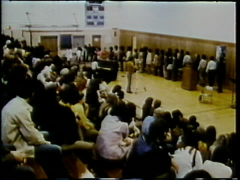 1972 montage teenagers in class assembly, arlington, virginia, usa / audio - piano stock videos and b-roll footage