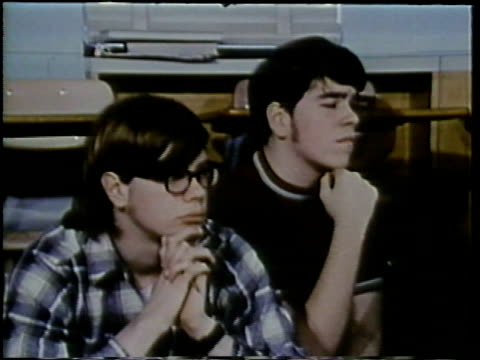 1972 montage teenagers in classroom, arlington, virginia, usa / audio - 1972 stock videos & royalty-free footage