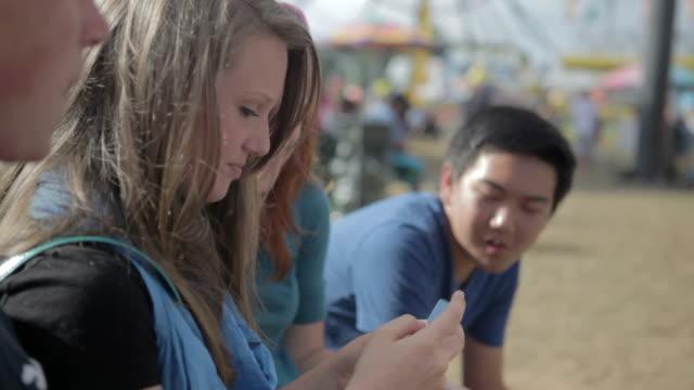 Teens At Carnival
