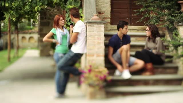 Teens chatting outdoor