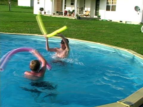 Teens in the pool
