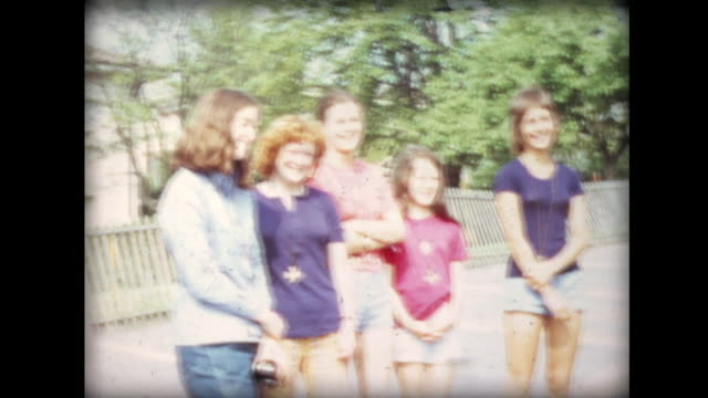 1971 teens load up vw van and drive away - van stock videos & royalty-free footage
