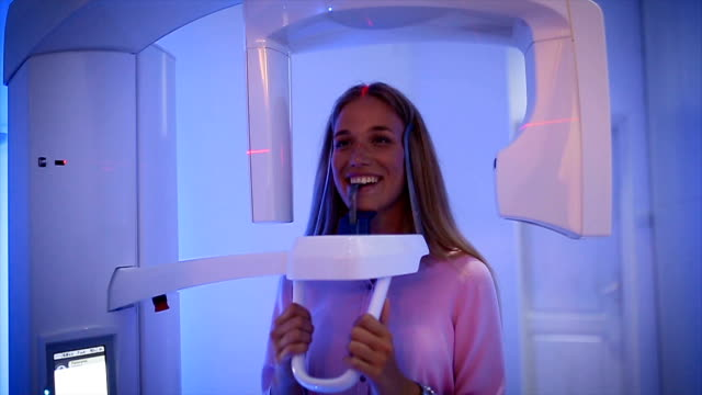 teeth scan at the dentist - dental hygiene stock videos & royalty-free footage