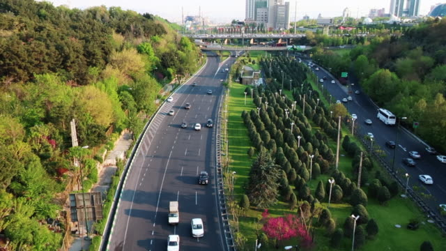 teheran cityscape and highway - tehran stock videos & royalty-free footage