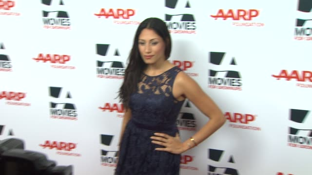 tehmina sunny at 13th annual aarp's movies for grownups awards gala at regent beverly wilshire hotel on in beverly hills, california. - regent beverly wilshire hotel stock videos & royalty-free footage