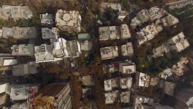 tehran aerial top shot construction sites looking down - tehran stock videos & royalty-free footage