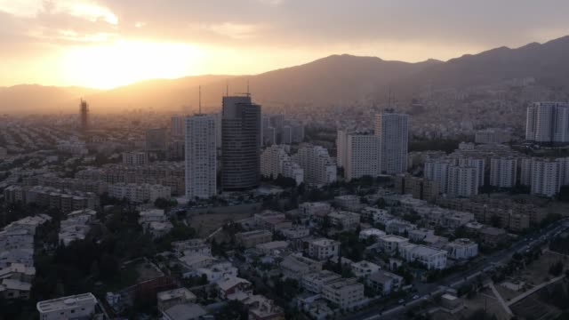 tehran at sunset - teheran video stock e b–roll