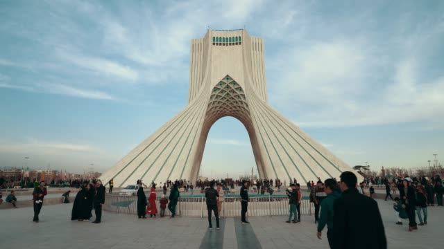 tehran azadi tower - teheran video stock e b–roll