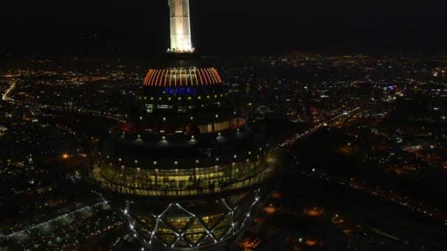 tehran milad tower at night - tehran stock videos & royalty-free footage